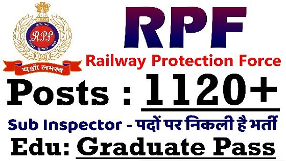 RPF (Railway Protection Force) Recruitment 2018 - 1120 Vacancies for Sub Inspector (SI)