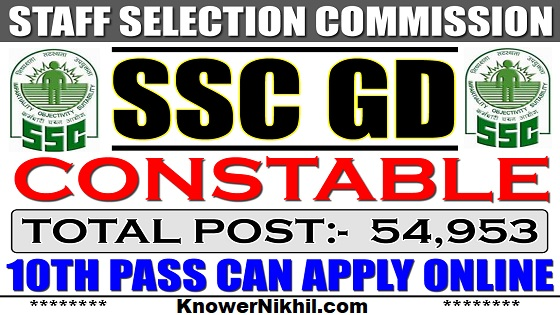 SSC GD 2018 Form Is Out - 54,953 Vacancies for Constable (GD)