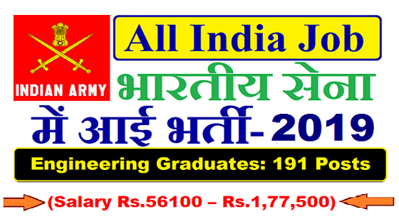 Indian Army Recruitment 2019 | SSC Officer Jobs | Salary Rs